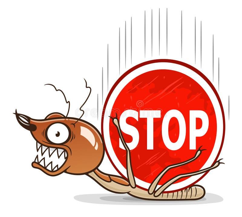 Illustration Stop termites illustration libre de droits