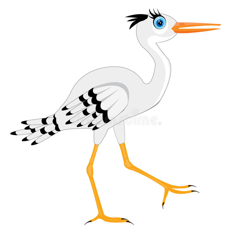 Illustration Of The Stork Stock Image