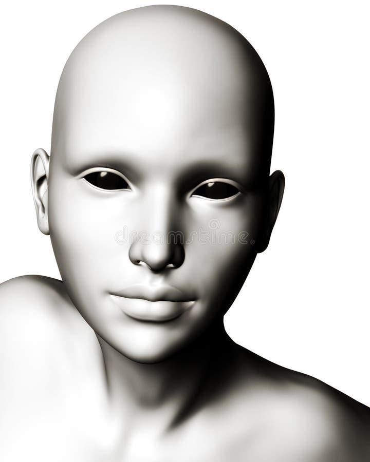 Download Illustration Of Strange Alien Or Cyborg Stock Images - Image: 23456014