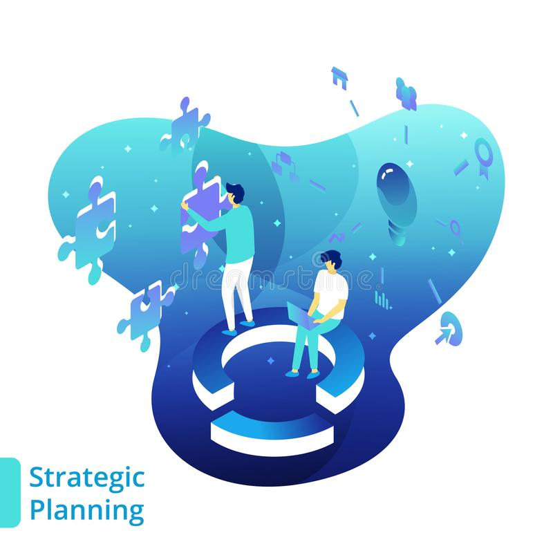 Illustration Strategic Planning vector illustration