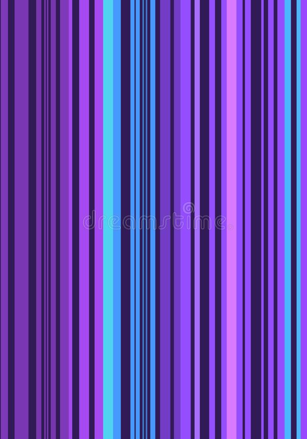 illustration of a stripped purple and blue backdrop. royalty free illustration