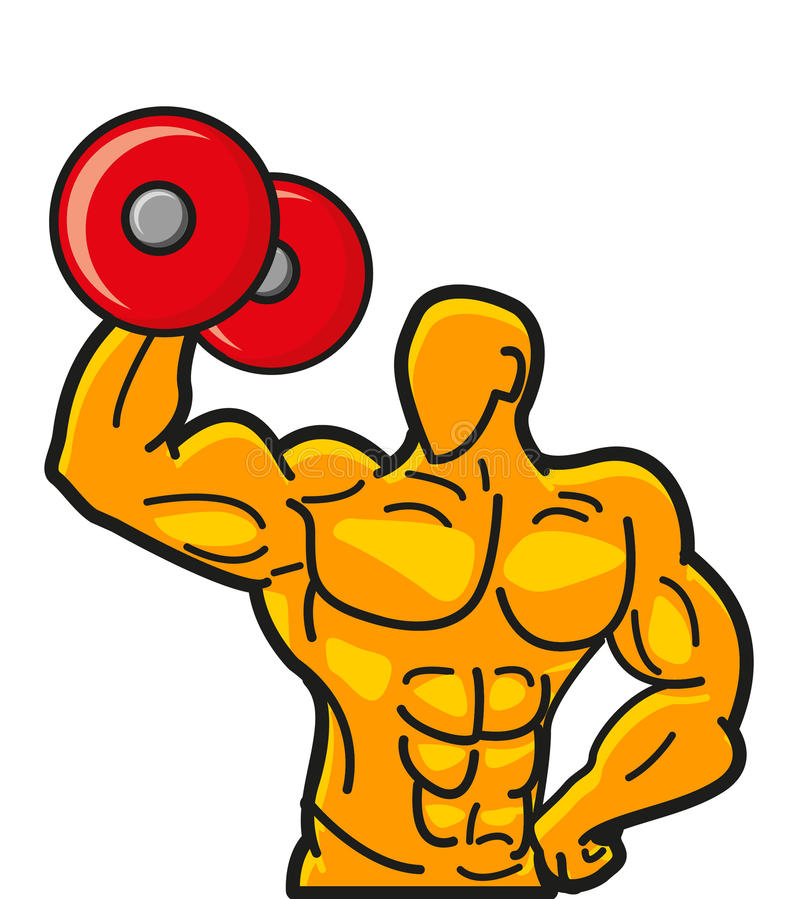 Illustration of strong muscleman