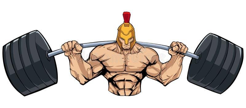 Spartan Gym Mascot royalty free illustration
