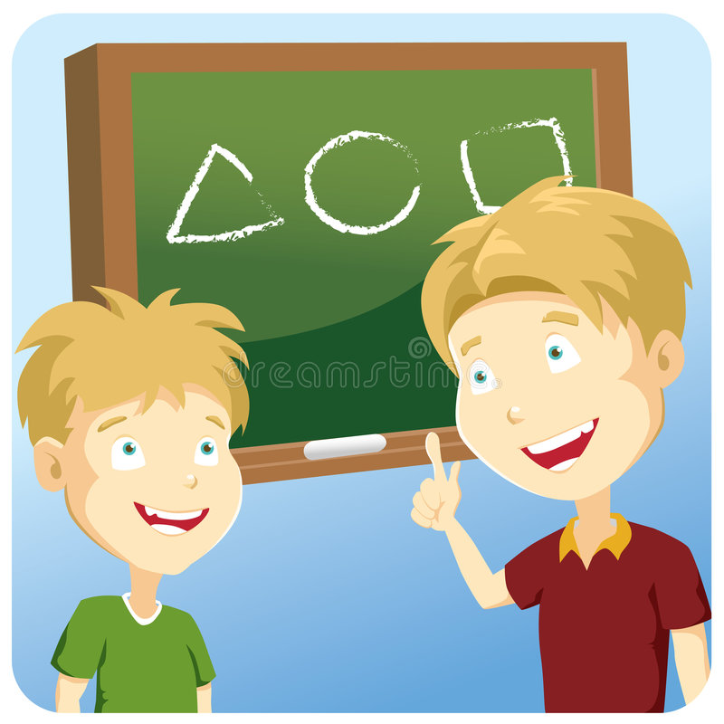 An illustration of a student learning science vector illustration