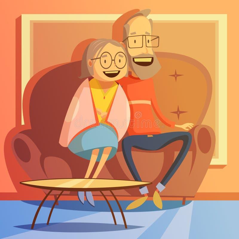 Illustration supérieure de couples illustration de vecteur