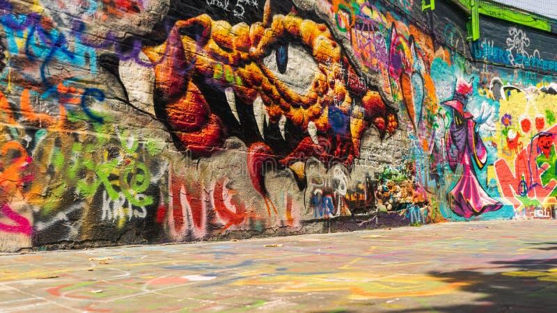 Illustration sur la rue Gand, Belgique de graffiti image stock