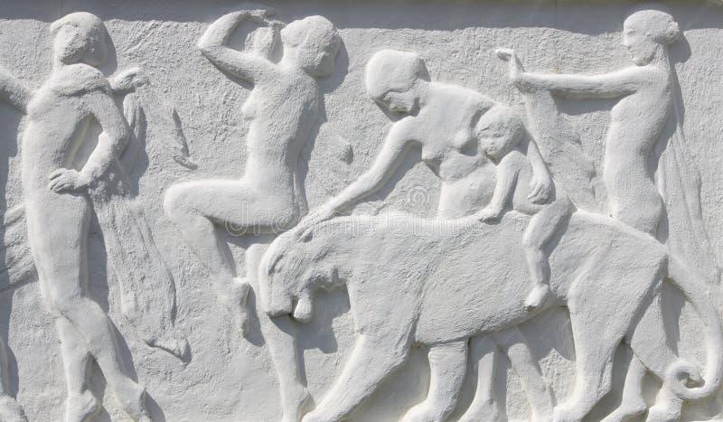 Illustration sur le mur images libres de droits