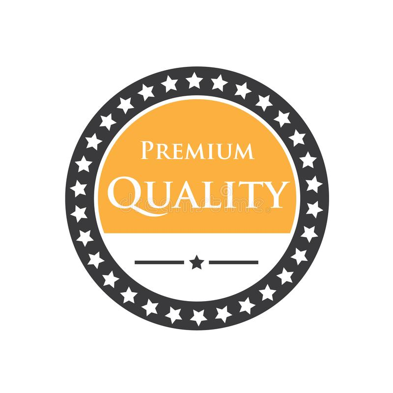 Illustration of the symbol and logo of the badge emblem for discount, quality, premium, guarantee, company logo. vector stock illustration