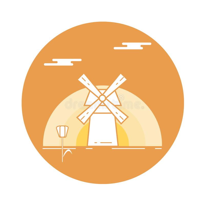 Illustration with symbols of Holland. Travel and leisure. Design for banner, poster or print vector illustration