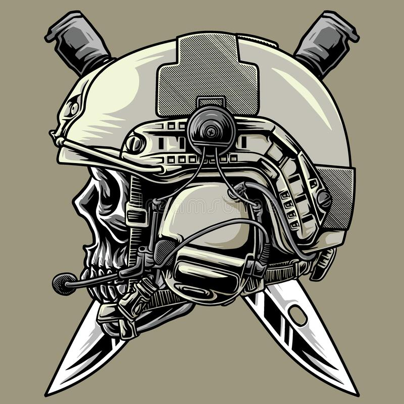 Free Illustration Tactical Skull Military Stock Photos - 212180373