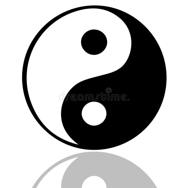 Tao symbol. Illustration of the Tao symbol stock illustration