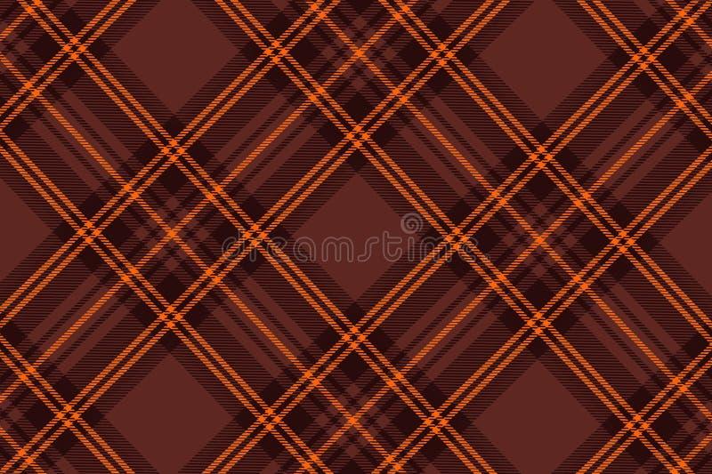 Illustration of tartan plaid. seamless pattern background. Illustration tartan plaid seamless pattern background fabric cotton wrapped wallpaper backdrop brown stock illustration