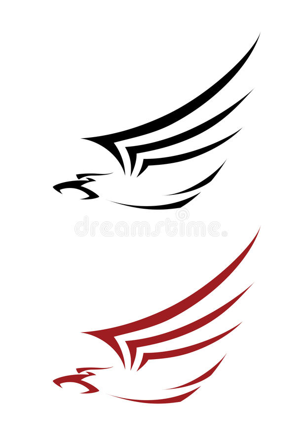 Download Tatoo hawk stock vector. Illustration of insignia, bird - 30024950