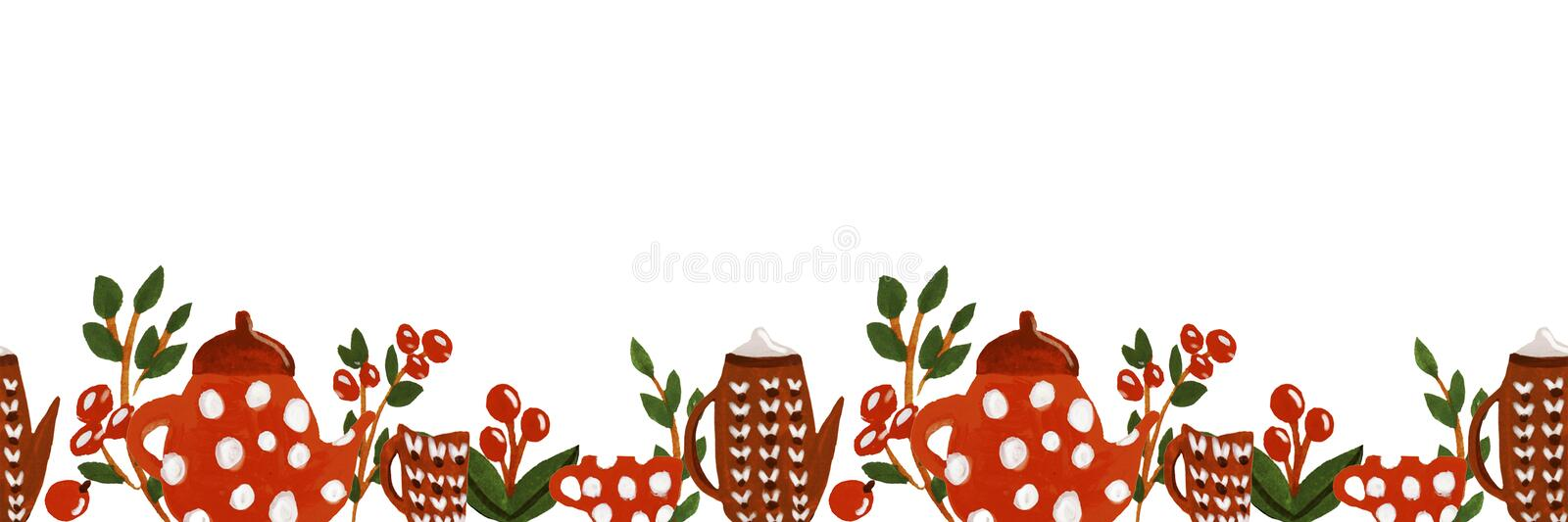 Illustration of tea time vector illustration