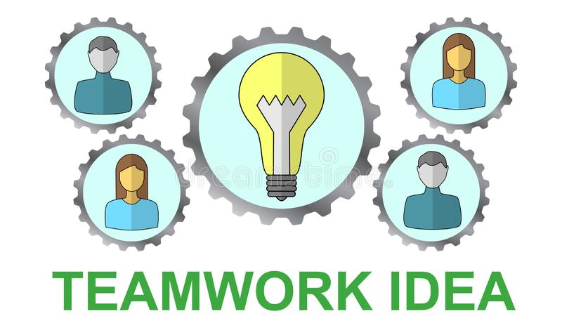 Concept of teamwork idea vector illustration