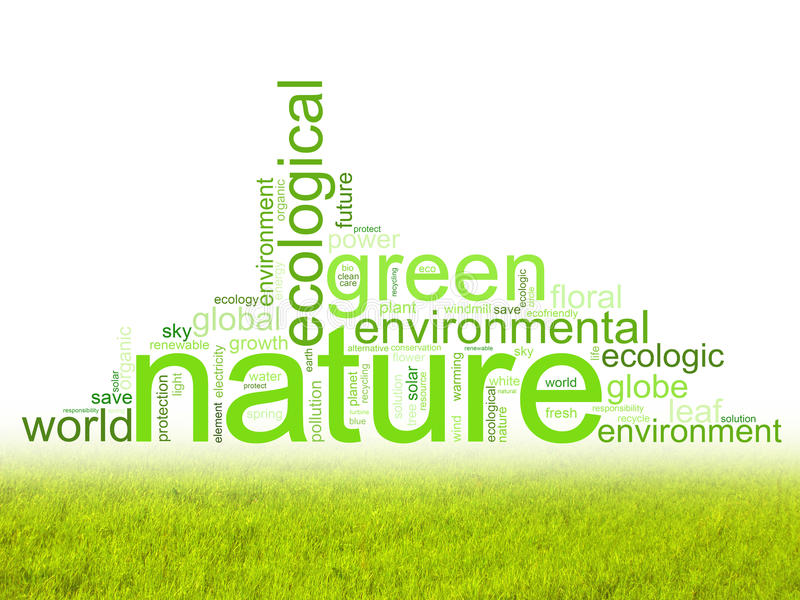 Illustration with terms like natur or environment stock illustration
