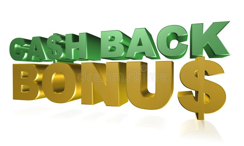 Cash back bonus stock illustration