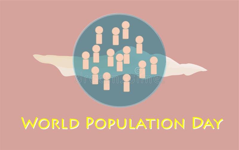 World Population Day stock illustration