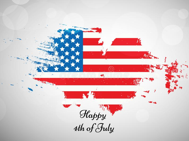 Illustration of 4th of July background royalty free illustration