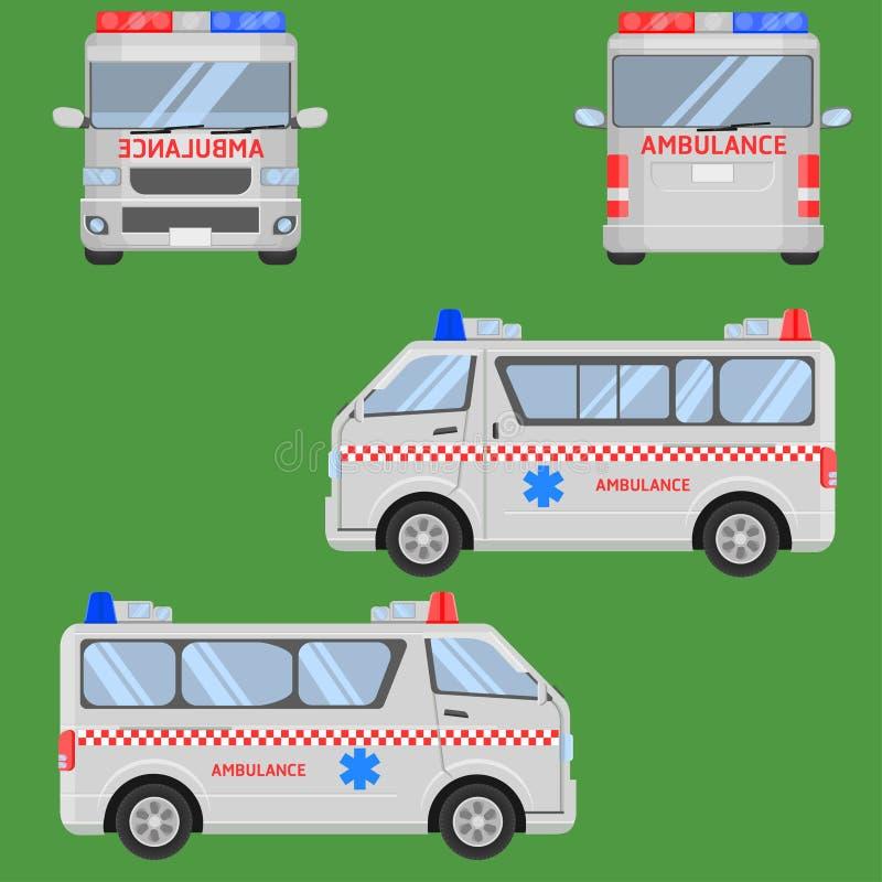 Illustration thaïlandaise eps10 de vecteur d'ambulance van car illustration de vecteur