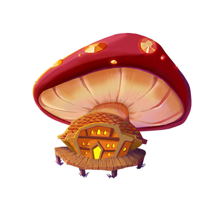 Free Illustration: The Mushroom House. Stock Images - 63093124