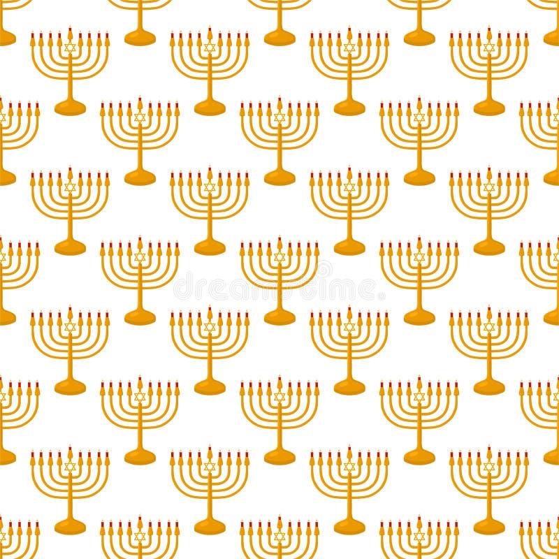 Illustration on theme big colored pattern menorah royalty free stock photos