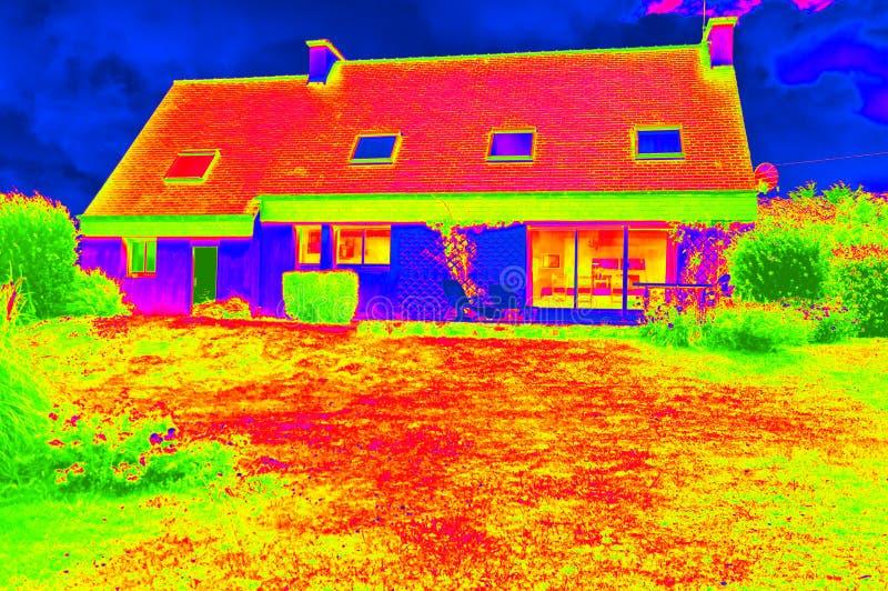 Illustration thermographique d'une maison photo stock