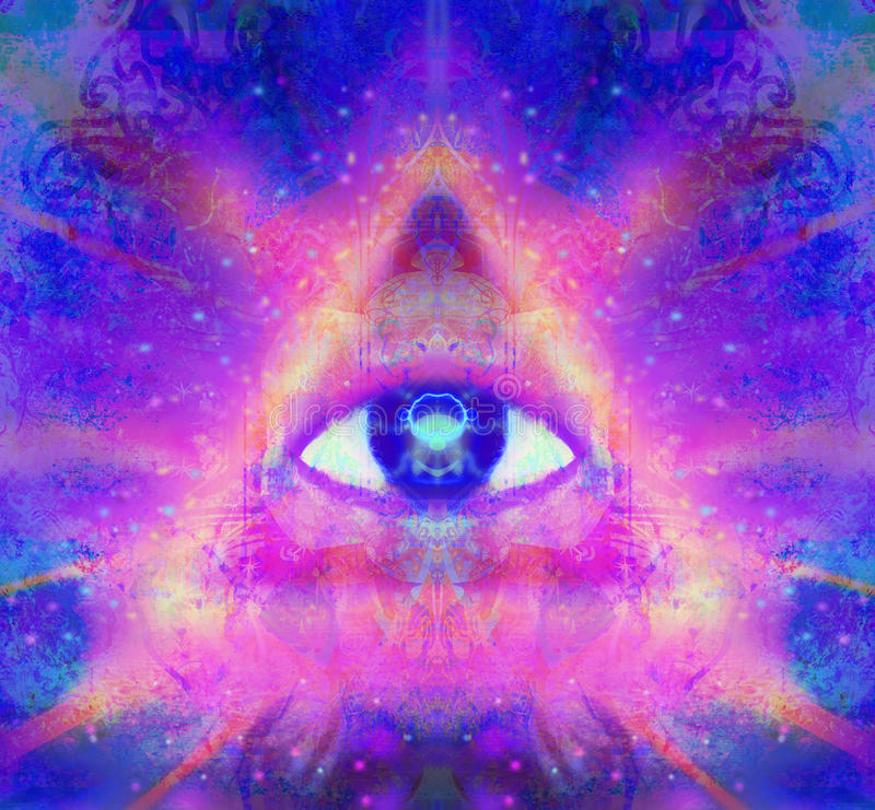 Illustration of a third eye mystical sign royalty free illustration