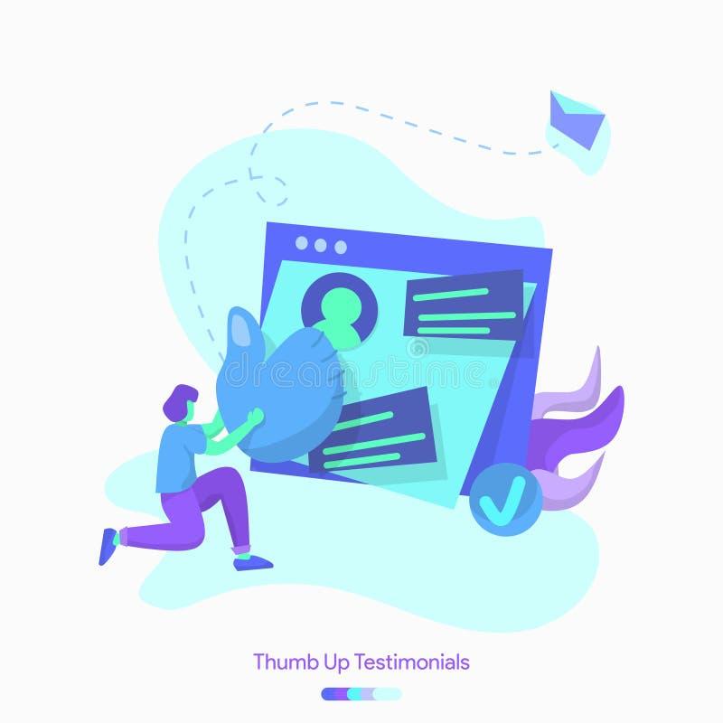 illustration Thumb Up Testimonials vector illustration