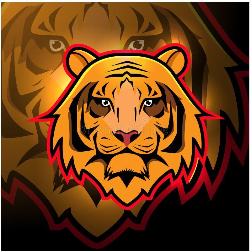 Mascot Of Tiger Head Baseball Stock Vector