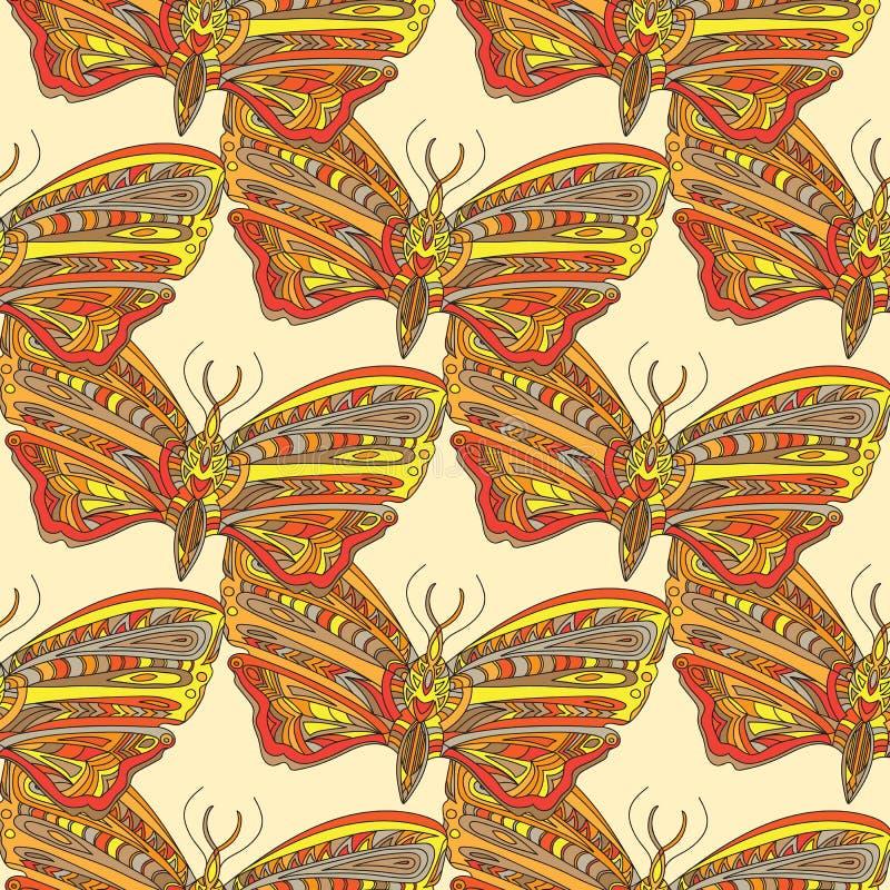 Illustration tirée par la main avec le papillon illustration stock
