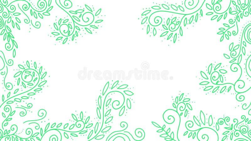 Illustration tirée par la main comme cadre et frontière illustration de vecteur