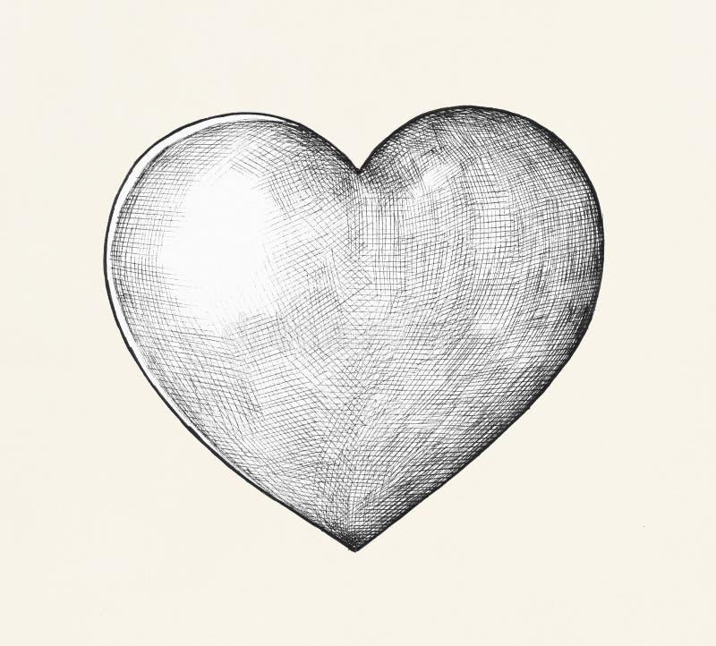 Illustration tirée par la main d'illustration de coeur illustration de vecteur
