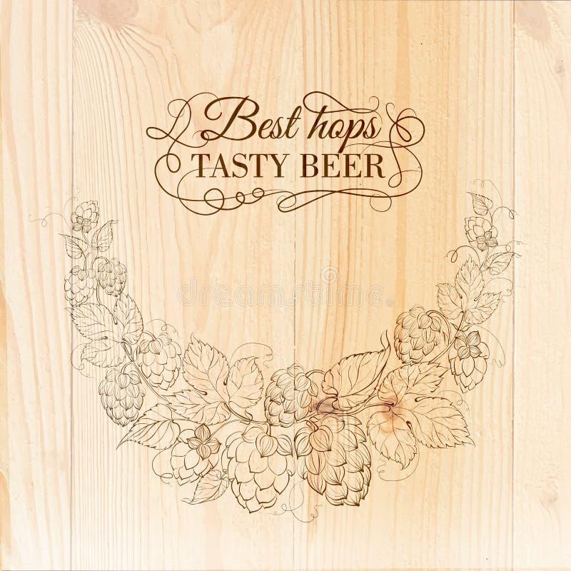 Illustration tirée par la main de bière. illustration de vecteur
