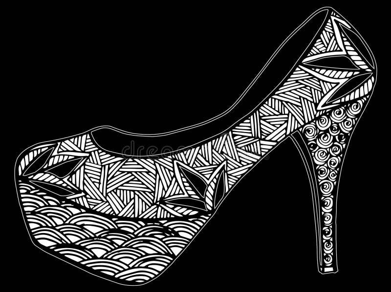 Download Illustration Tirée Par La Main De Chaussure De Talon Haut Illustration Stock - Illustration du isolement, dessin: 87709237
