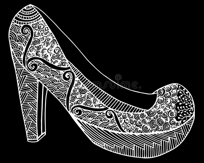 Download Illustration Tirée Par La Main De Chaussure De Talon Haut Illustration de Vecteur - Illustration du main, mignon: 87709256