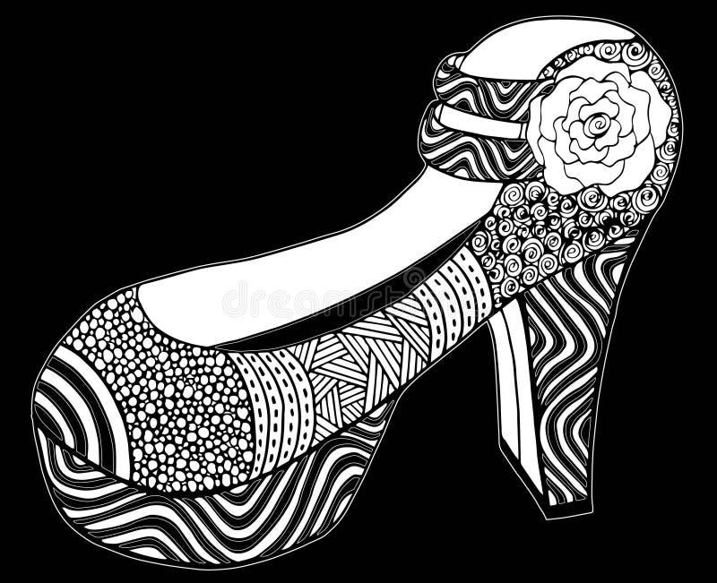 Download Illustration Tirée Par La Main De Chaussure De Talon Haut Illustration Stock - Illustration du dessin, mignon: 87709286