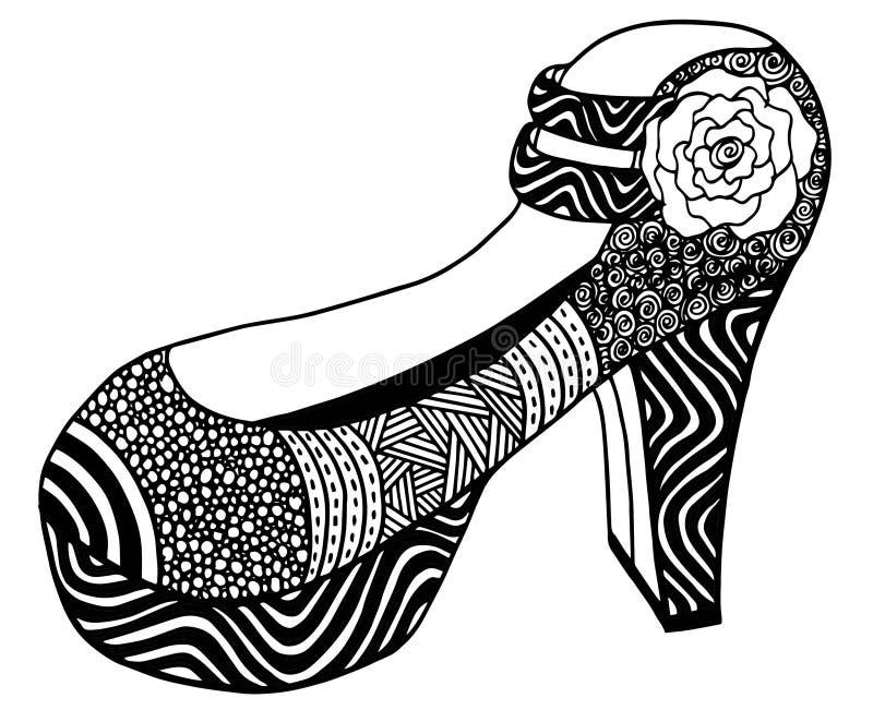 Download Illustration Tirée Par La Main De Chaussure De Talon Haut Illustration Stock - Illustration du moderne, décoratif: 87709289