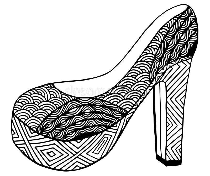 Download Illustration Tirée Par La Main De Chaussure De Talon Haut Illustration Stock - Illustration du conception, main: 87709339