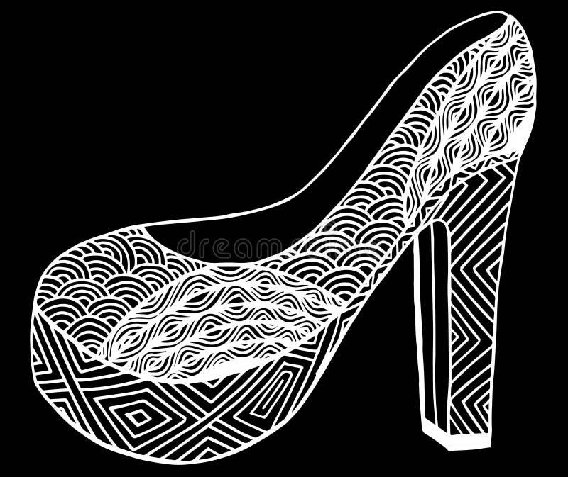 Download Illustration Tirée Par La Main De Chaussure De Talon Haut Illustration Stock - Illustration du initialisations, illustration: 87709349