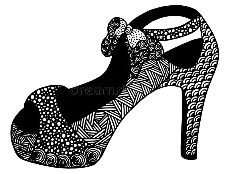 Download Illustration Tirée Par La Main De Chaussure De Talon Haut Illustration Stock - Illustration du mode, beau: 87709387