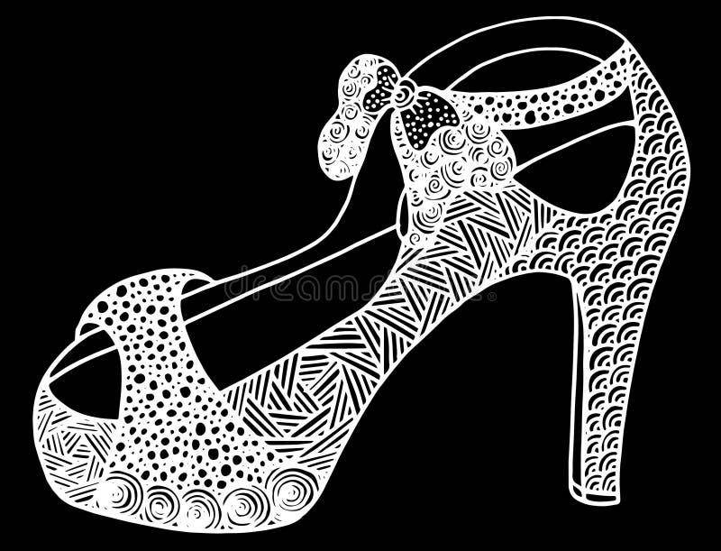 Download Illustration Tirée Par La Main De Chaussure De Talon Haut Illustration Stock - Illustration du élégance, mode: 87709393