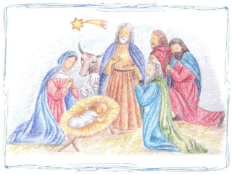 Illustration tirée par la main de Noël illustration stock