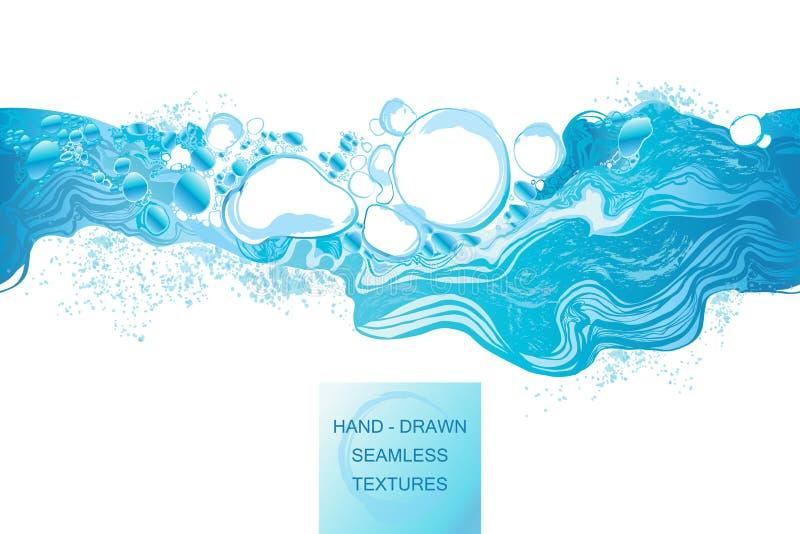 Illustration tirée par la main de vecteur d'éclaboussure de l'eau illustration libre de droits
