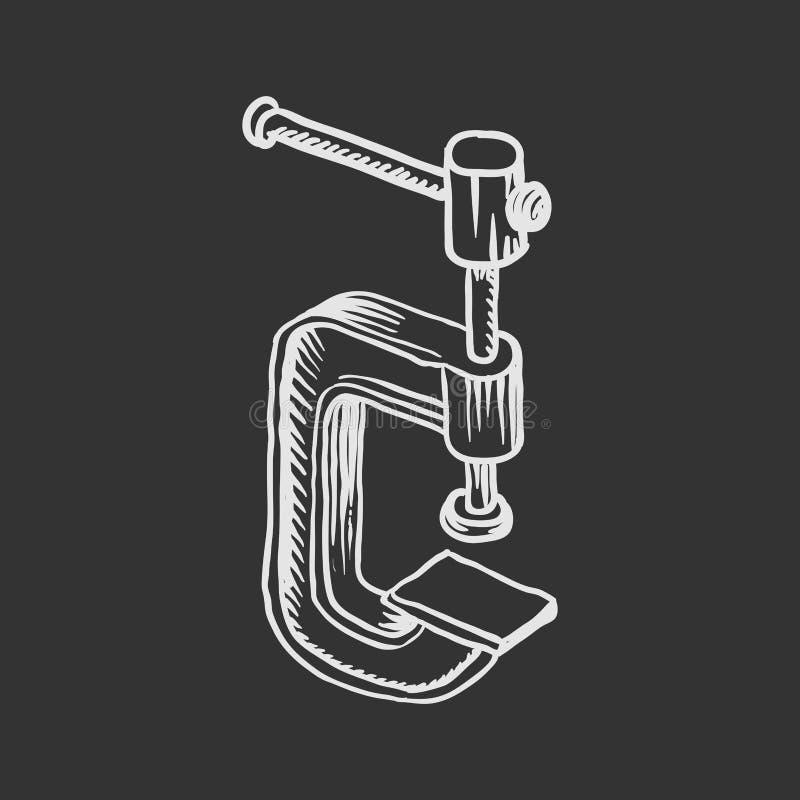 Illustration tirée par la main de vecteur de C-bride illustration libre de droits