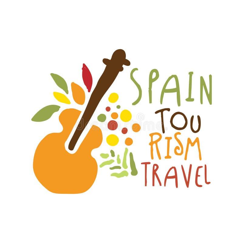 Illustration tirée par la main de vecteur de calibre de logo de tourisme de l'Espagne illustration libre de droits