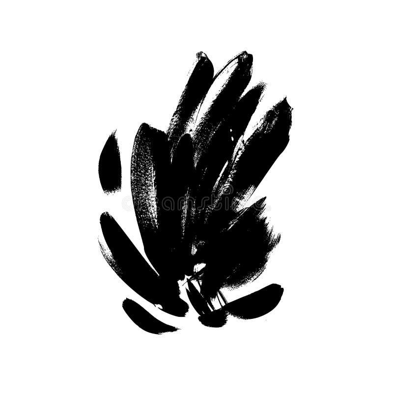 Illustration tirée par la main de vecteur de traçages noirs illustration libre de droits