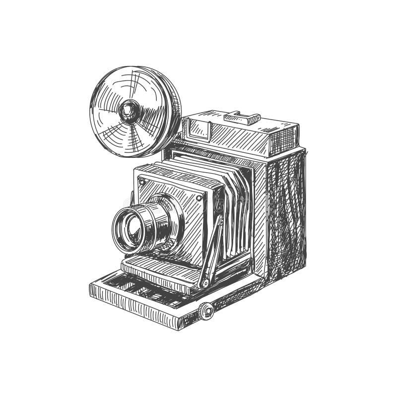 Illustration tirée par la main de vintage de beau vecteur illustration de vecteur