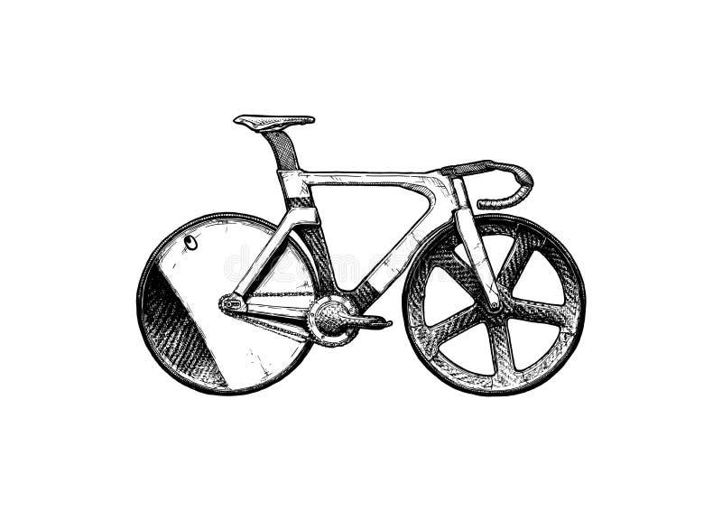 Illustration of Track bike stock illustration