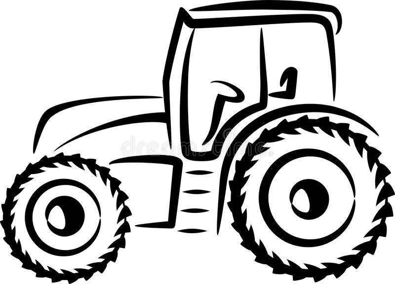 Illustration with a tractor. Simple illustration with a tractor stock illustration
